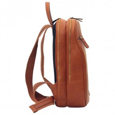 "Leather backpack ""Malbork"" C"