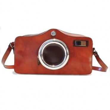 "Leather Lady bag ""Photocamera"""