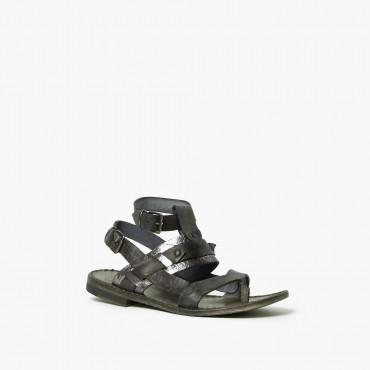 "Leather woman sandal ""Etrusco"""