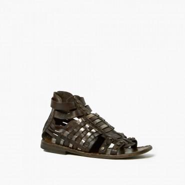 "Leather woman sandal ""Riace"""
