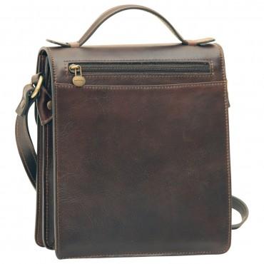 "Leather Man bag ""Gniew"" DB"