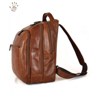 "Leather backpack ""Ombrone"""