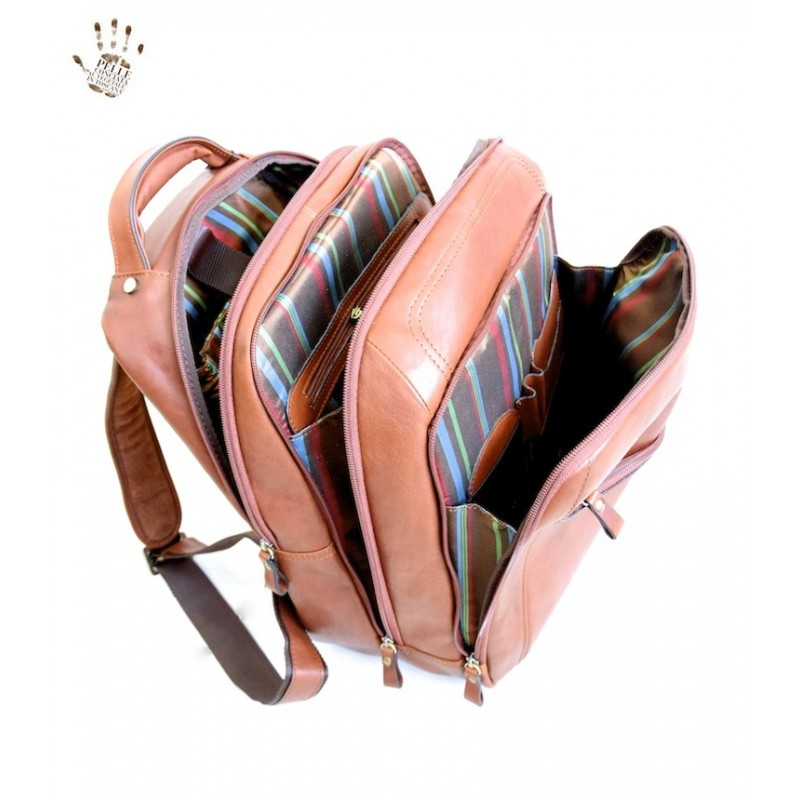 """Leather backpack """"Ombrone"""" B"""