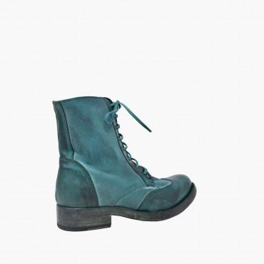 "Leather women shoes""Petrolio"""