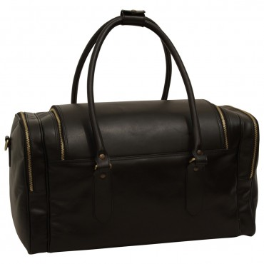 "Leather travel bag ""Arno"" BL"