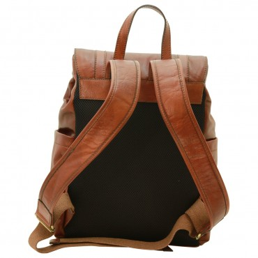 "Leather backpack ""Leszno"" B"