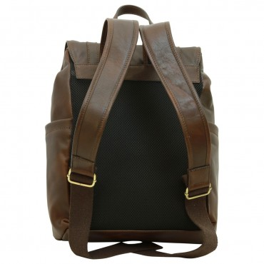"Leather backpack ""Leszno"" DB"