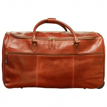 "Leather duffel bag ""Koszalin"""