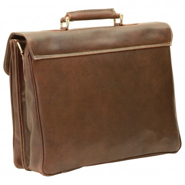 Leather Unisex Briefcase...