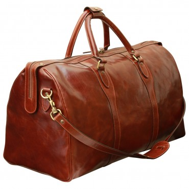 "Leather travel bag ""Legnica"""