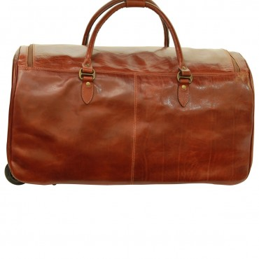 "Leather duffel bag ""Koszalin"""