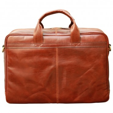 Leather Woman/Man Briefcase...