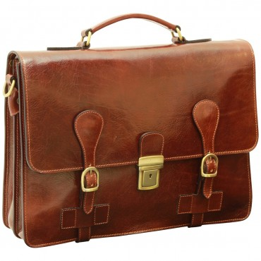 "Leather Man Briefcase ""Toruń"""