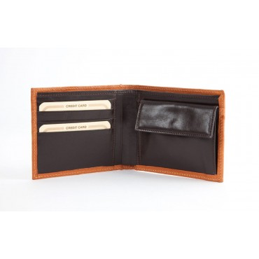 Wallet in real Ostrich leather
