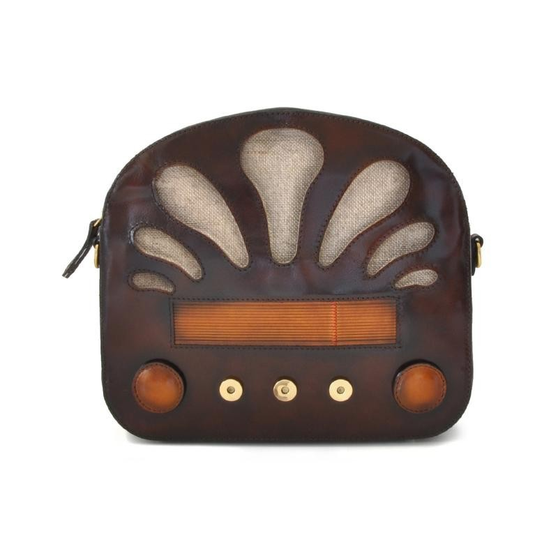 "Borsa donna in pelle ""Radio Days"""