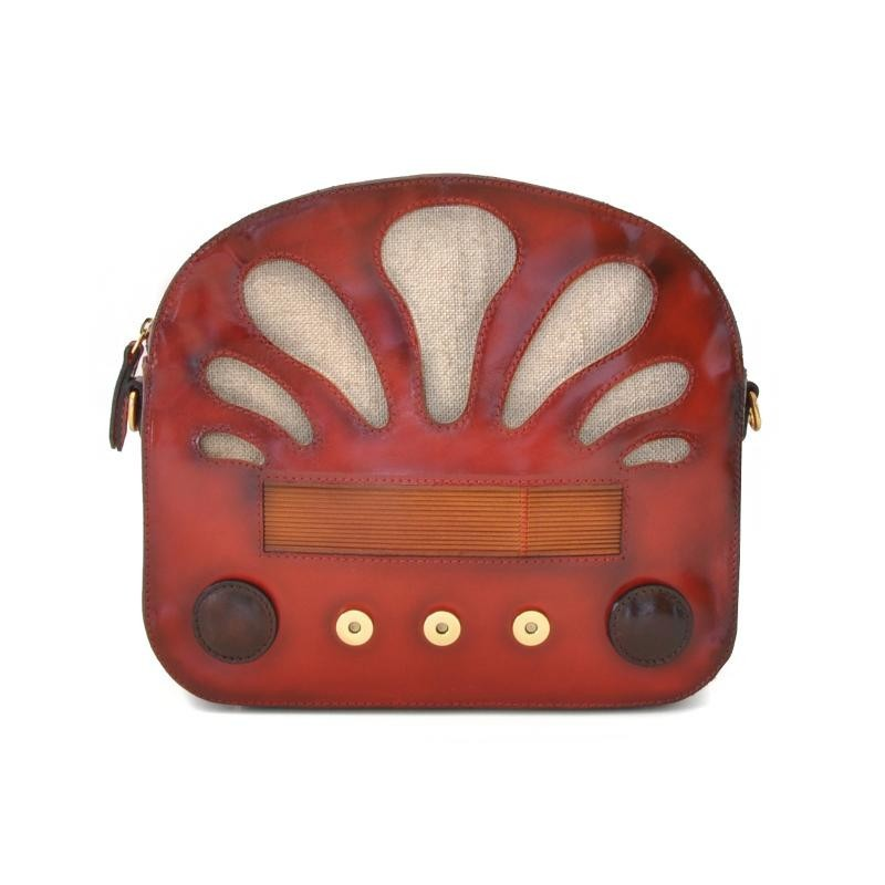 "Leather Lady bag ""Radio Days"""