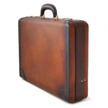 Leather Suitcase 24H...
