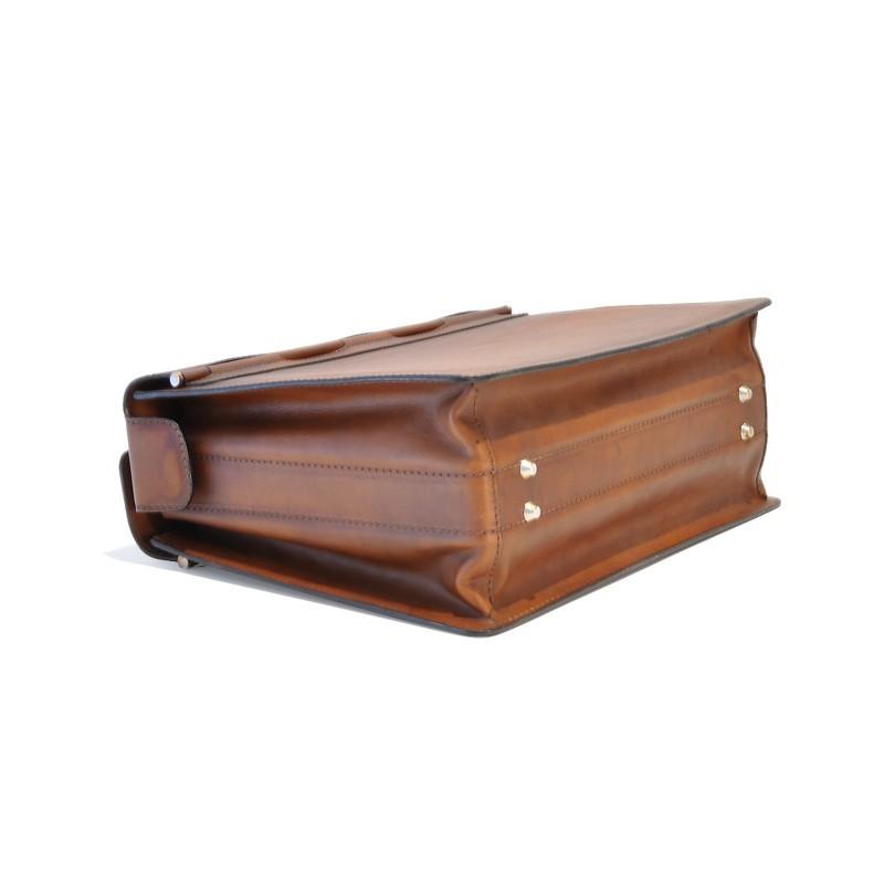 """Leather Briefcase """"Lorenzo il Magnifico"""" B388"""