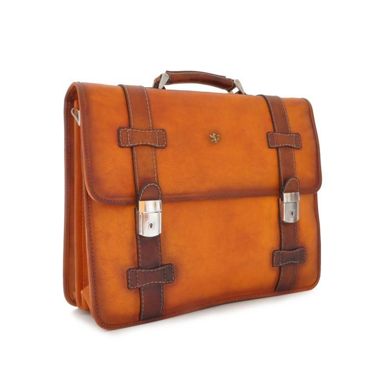 "Leather Briefcase ""Vallombrosa"" B500"