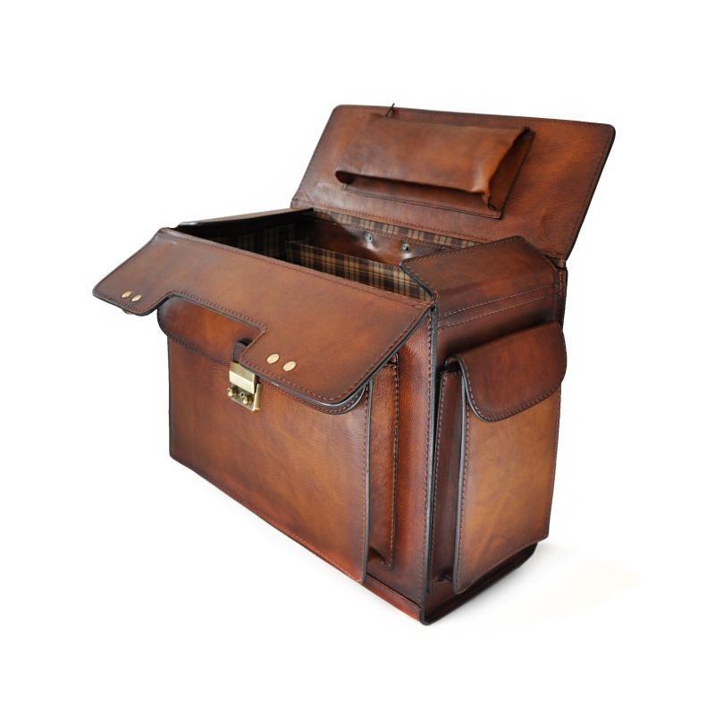 """Leather Pilot case """"Arnolfo Di Cambio"""" B408"""