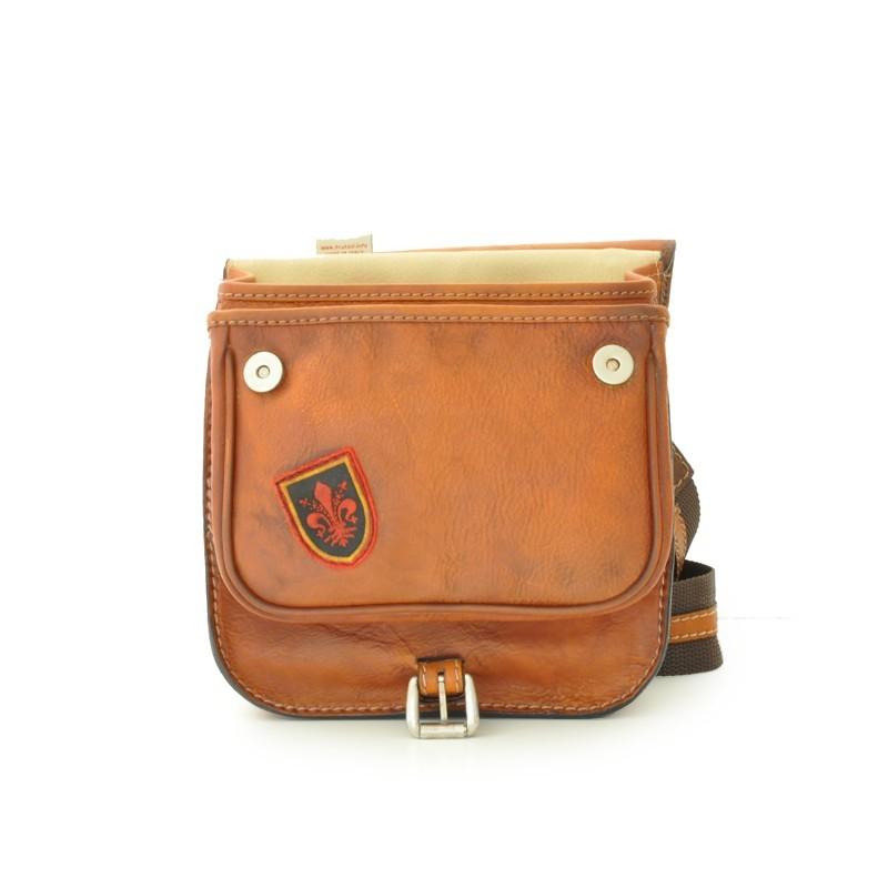 "Leather Man bag ""Bisaccia"" B135P"