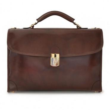 """Leather briefcase """"Leccio"""" R113"""