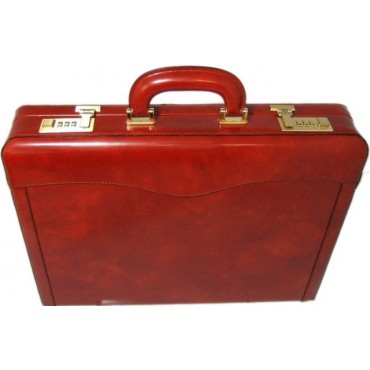 Leather briefcase 24 H...