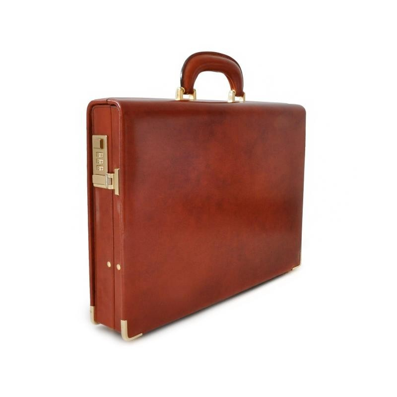 "Leather briefcase 24 H ""Machiavelli small"""