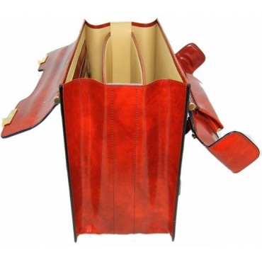 """Leather briefcase """"Lorenzo il Magnifico"""" R388"""