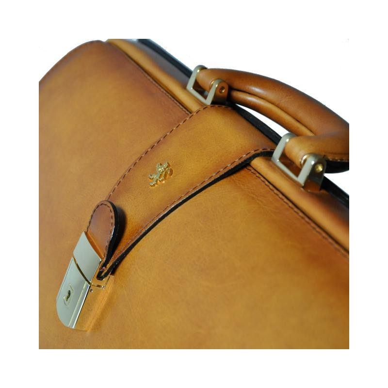 "Leather briefcase ""Leonardo"" S525G"