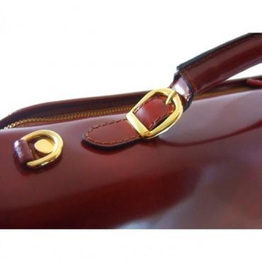 """Leather briefcase """"Da Verrazzano"""" K362"""