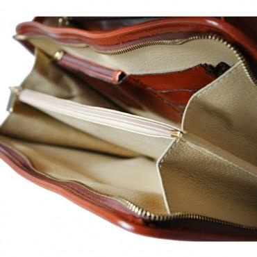 """Leather briefcase """"Leccio"""" K113"""