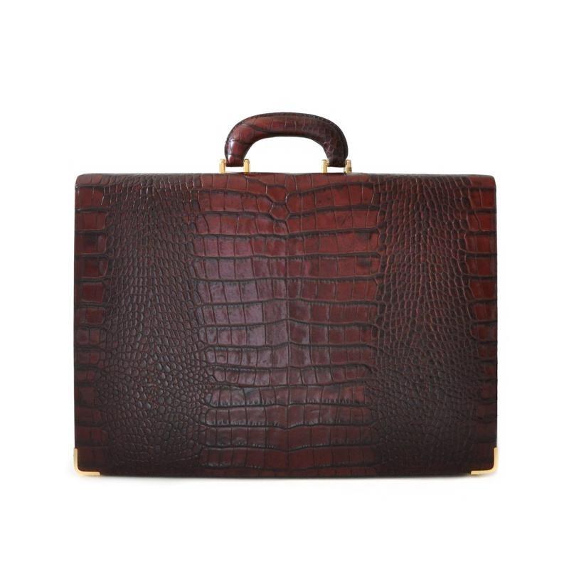 """Leather attach case 24H """"Machiavelli"""" Slim CA"""