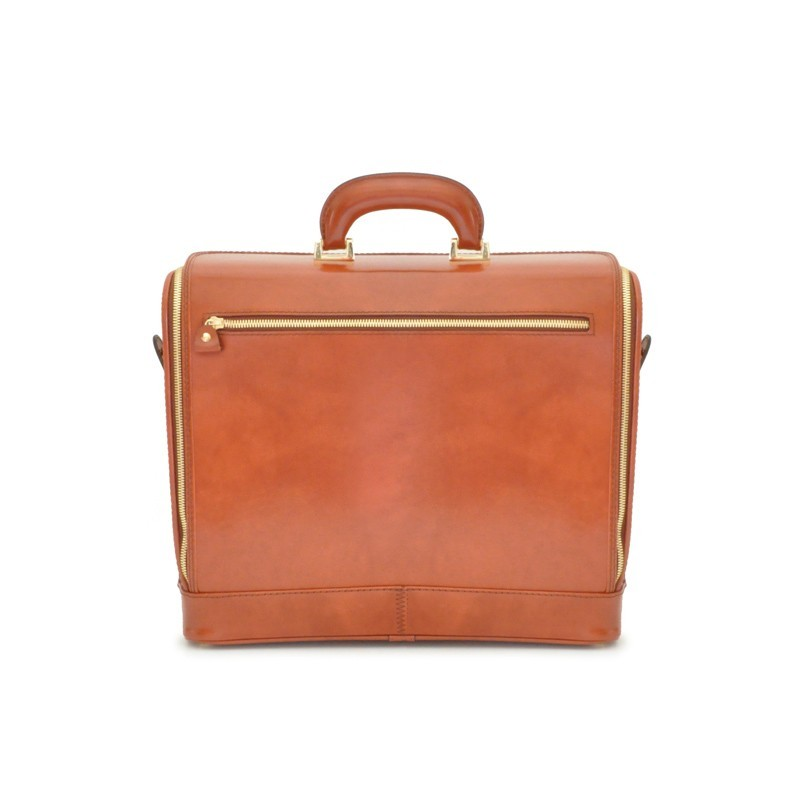 """Leather briefcase """"Raffaello"""" C116-15"""