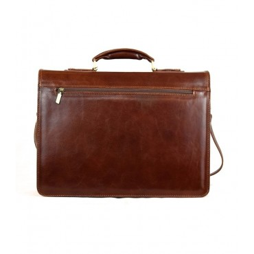 "Leather Man Briefcase ""Cupi"""
