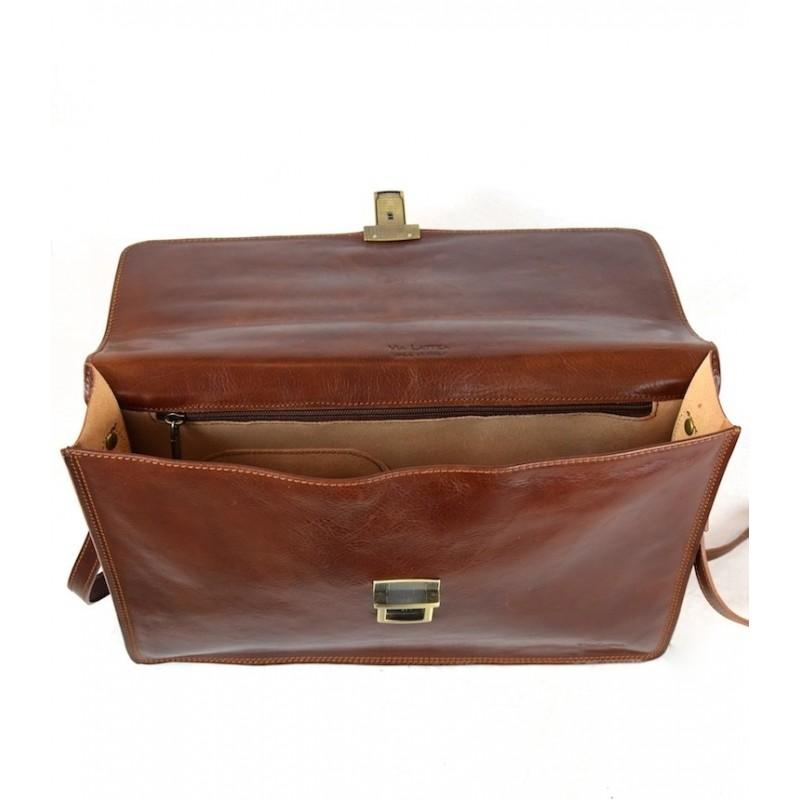 """Leather Man Briefcase """"Cupi"""""""