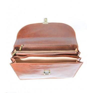 """Leather Man briefcase """"Poggione"""""""