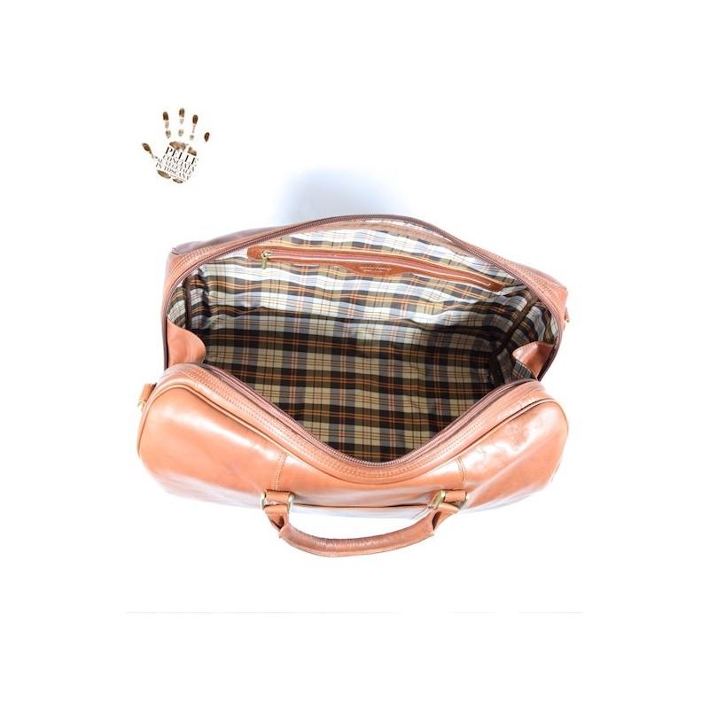 "Leather Travel bag ""Viburno"""