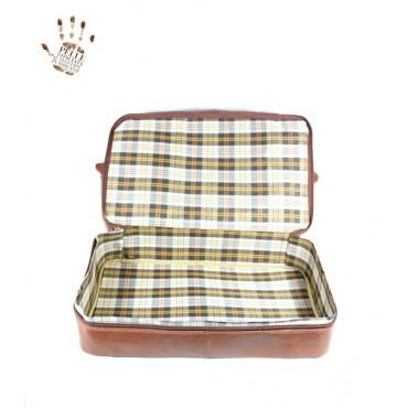 "Leather Travel bag ""Corbezzolo"""