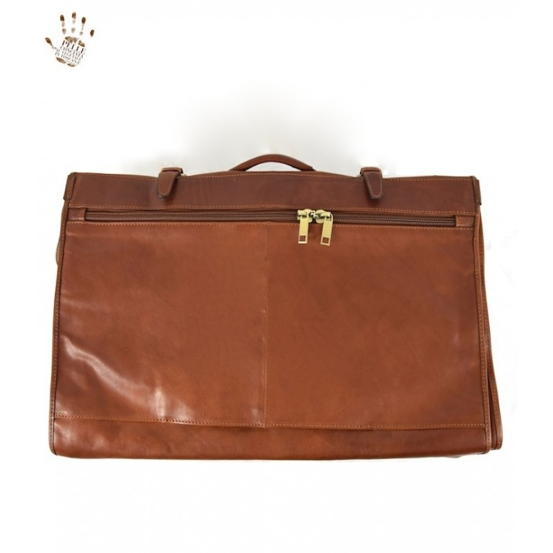 """Leather Travel bag clothes anger """"Merciai"""""""