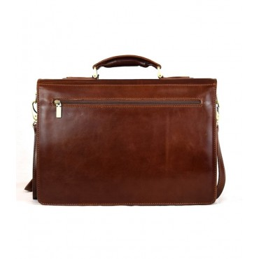 "Leather Man Briefcase ""San..."