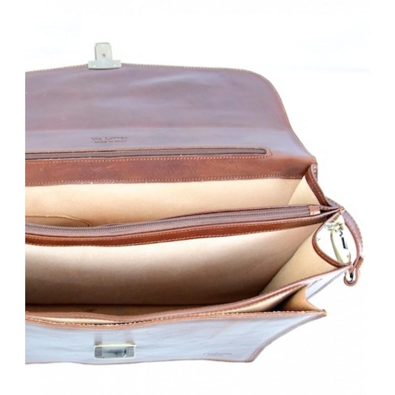"Leather Man Briefcase ""Querciolaie"""