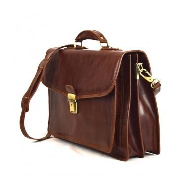 "Leather Briefcase woman ""Querciolaie"""