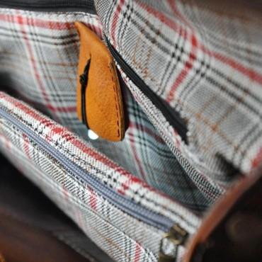 "Leather Lady bag ""Castell'Azzara"" B162"