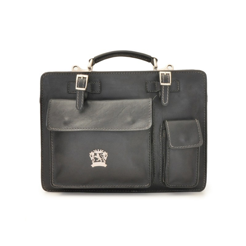 """Leather Briefcase """"Milano"""" 34"""