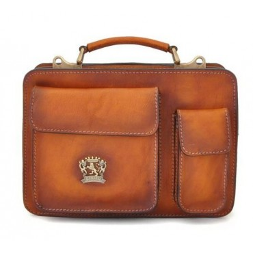 """Leather Briefcase """"Milano"""" 28"""