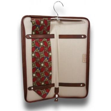"Leather Tie case ""Buontalenti"" B012"
