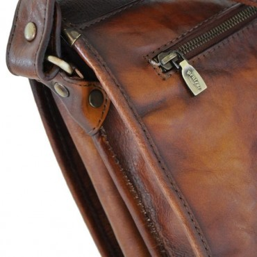 """Leather Man bag """"Val D'Orcia"""" B184"""