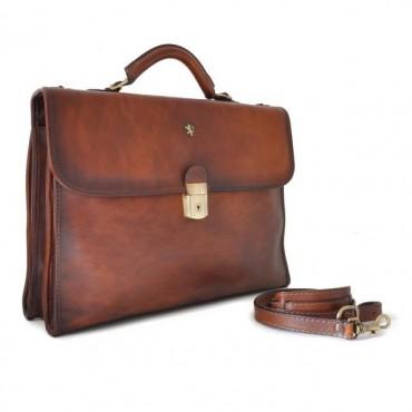 """Leather Briefcase """"Da Verrazzano"""" B362"""
