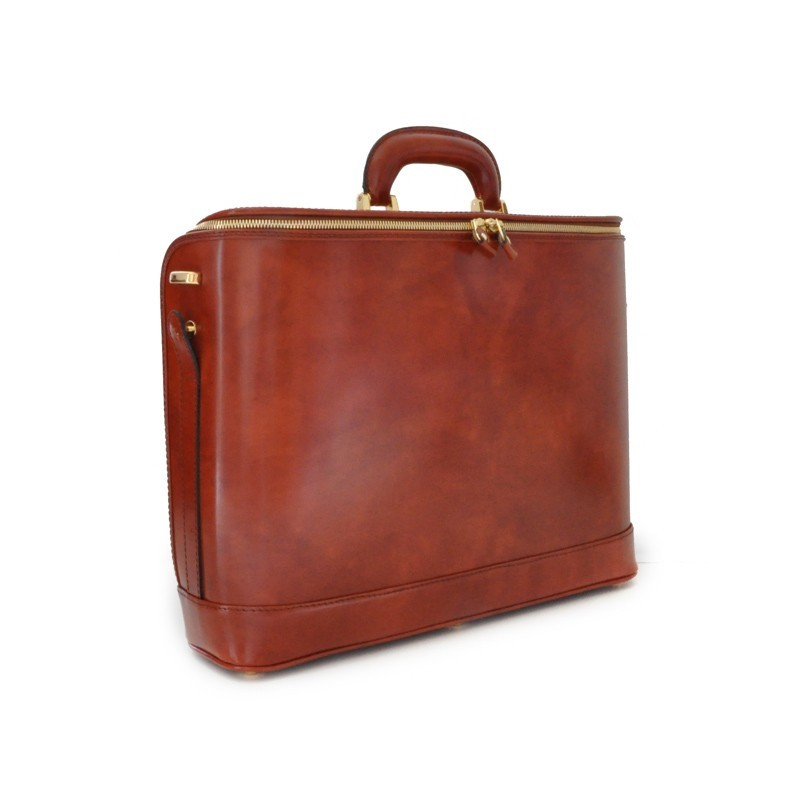 """Leather briefcase """" Raffaello"""" C116-17"""